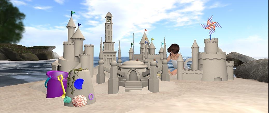 Virtual Sandcastles in a Virtual World